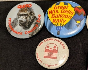 Vintage Midwestern Life Buttons (80's & 90's)