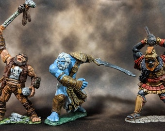 Hill, Fire, and Storm Giant Miniatures (from the Reaper and Reaper Bones lines)