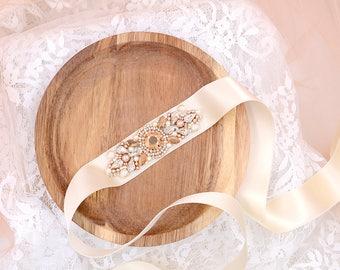 Wedding Sash , Bridal Belt , Beaded Sash , Swarovski Crystal Sash ,rose gold Crystal Belt , Ivory Satin Sash , Lace Sash , Silver Sash