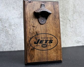 new york jets wall mounted rustic bottle opener request a team christmas gift