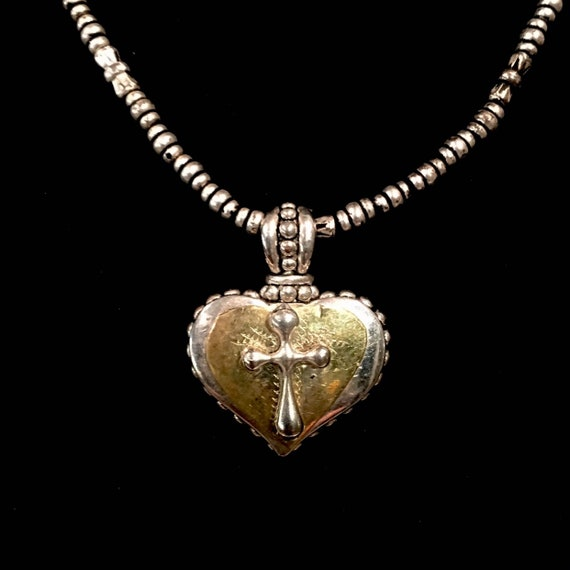 Sweet Devotional Heart and Cross Necklace