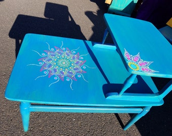 Delicieux Vintage, Painted Fuurniture, Mandala Furniture, Beach, Cottage, Hippie,  Gypsy,