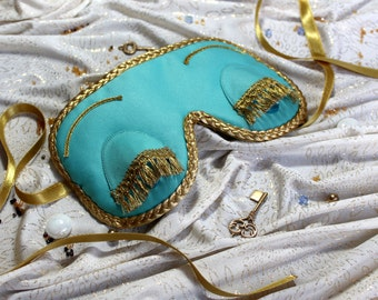 Sleep Mask. Handmade gift for her. Gift for women.Breakfast at Tiffany's and Audrey Hepburn in role of Holly Golightly sleeping mask