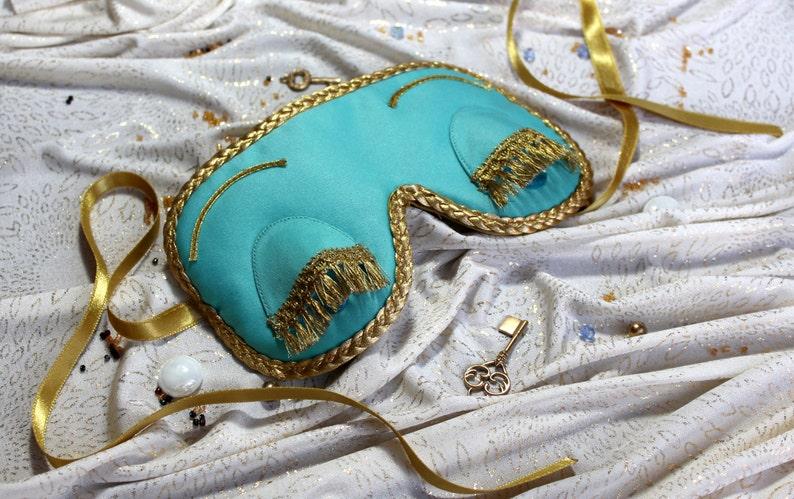 Sleep Mask. Handmade gift for her. Gift for women.Breakfast at image 0