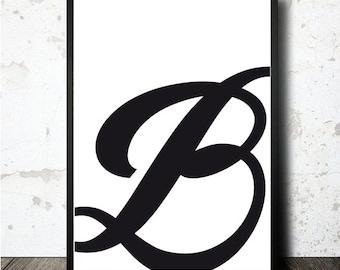 Buchstaben M Print Poster Pdf Downloable Und In A4 Größe Etsy