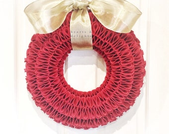 red christmas wreath christmas decorations festive wreath red christmas decorations felt wreath wall hangings christmas home decor - Red Christmas Wreath