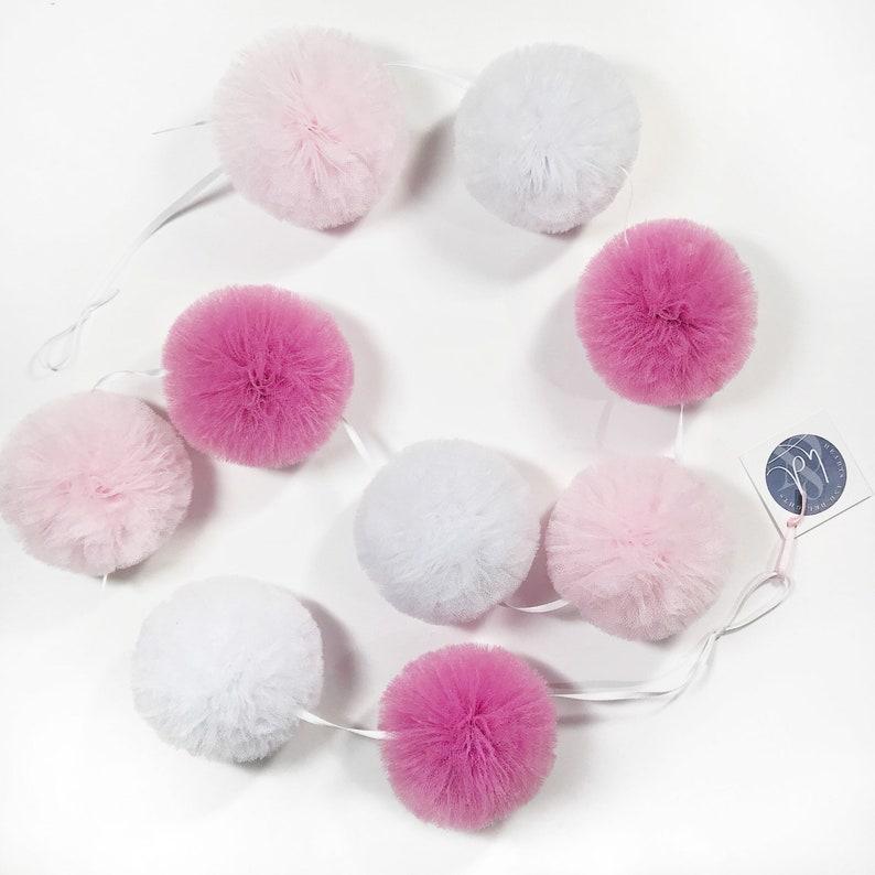 531ede9950f Pink Pom Pom Nursery Garland Pink Pom Pom Garland Pink