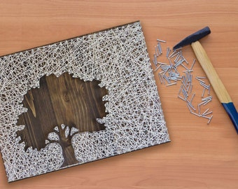 Oak Tree String Art Kit | DIY Kit Includes All Supplies | Crafts Kit For Adults | String Art Pattern | Birthday Gift  | Christmas Gift