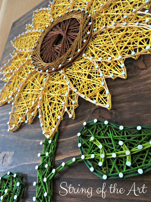 Sunflower String Art Kit DIY Kit Includes All Needed | Etsy