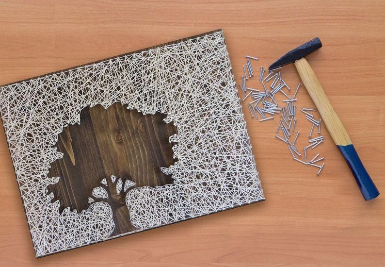 Oak Tree String Art Kit  DIY Kit Includes All Supplies  image 0