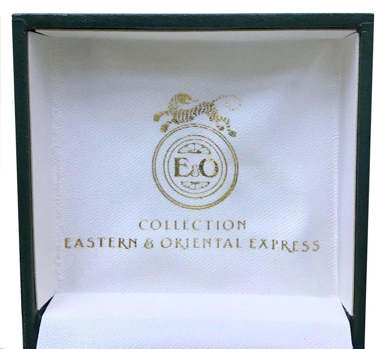 Vintage Eastern Orient Express Brass and Enamel Cufflinks