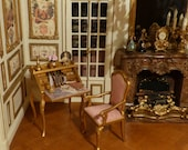 Office and its Chair miniatures Louis XV style-scale 1 12-decoration furniture miniature Doll House in French