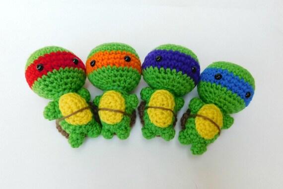 Ninja Turtles Ninja Häkeln Häkeln Schildkröte Häkeln Puppe Etsy