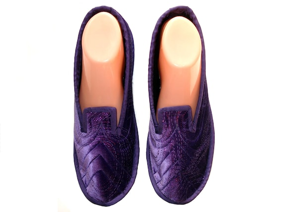f65d9a0eb5b Velvet Womens House Slippers Wool Slippers Soft Sole Shoes