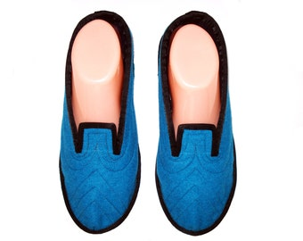 Warm Wool  Slippers, House Slippers, Womens Slippers, Soft Sole Shoes, Ladies Slippers, Indoor Slippers, Travel Slippers, Shoes  7.5