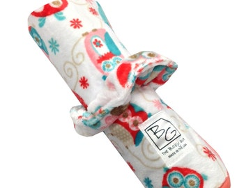 Hooty Owl Roll N Go Changing Pad Coral Trim