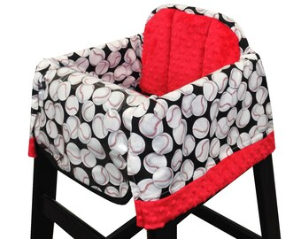 Baseball High Chair Cover Restaurant