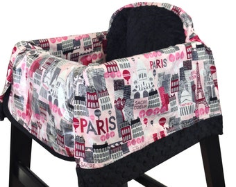 Hot Pink Paris High Chair Cover Restaurant