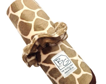 Giraffe Minky Roll N Go Changing Pad Brown Trim