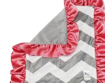 Security Blanket Gray Chevron