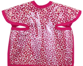 Hot Pink Cheetah Apron Bib