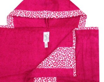 Hot Pink Cheetah Hooded Towel