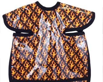 Flames Apron Bib