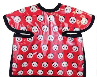 Panda Apron Bib Red