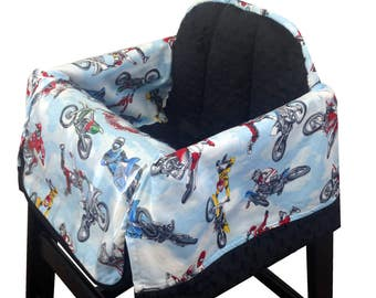 Motorcross High Chair Cover Restaurant