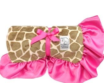 Giraffe Deluxe Minky Blanket