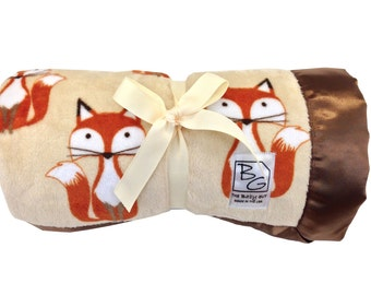 Woodland Foxes Deluxe Minky Blanket