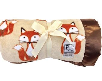 Foxes Deluxe Minky Blanket