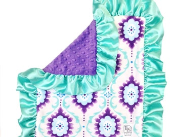 Candace Security Blanket Mint Purple