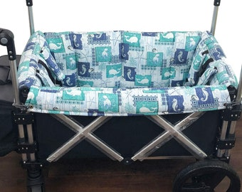 Sea Life Deluxe Stroller Wagon Liner For Keenz