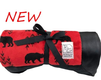 Woodland Bear Deluxe Minky Blanket