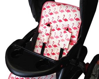 Flamingo Fun Stroller Liner - Reversible Stroller Pad