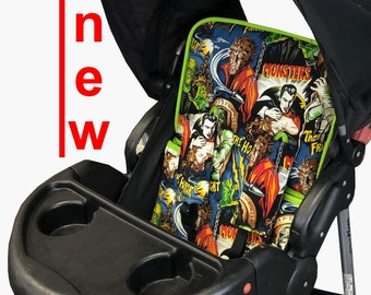 Classic Monsters Stroller Liner - Reversible Stroller Pad