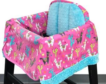 Llama Love High Chair Cover