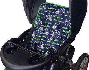Seahawks Stroller Liner - Reversible Stroller Pad