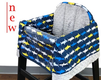 Sharks high Chair Cover