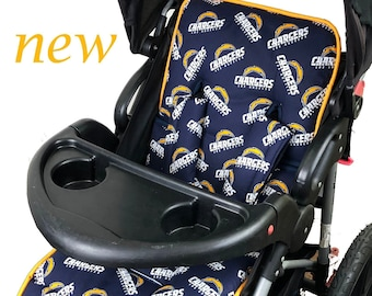 Chargers Stroller Liner - Reversible Stroller Pad
