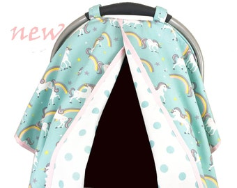 Unicorn Aqua Car Seat Tent/Canopy