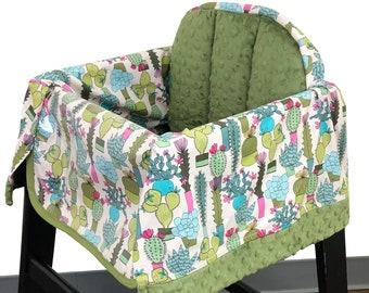 Cactus Garden High Chair Cover