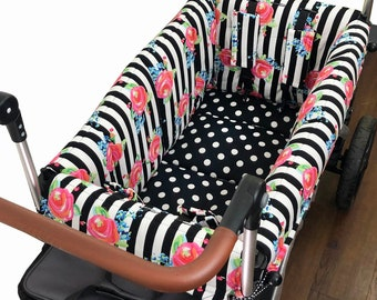 Striped Roses Stroller Wagon Liner For Keenz