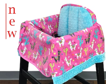Llama Love High Chair Cover