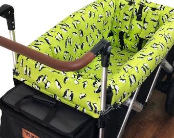 Lime Penguin Stroller Wagon Liner for Keenz
