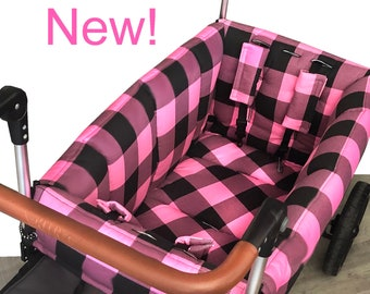 Buffalo Check Black/Pink Wagon Liner for Keenz