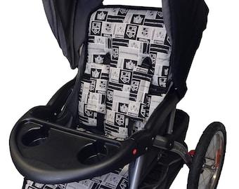 Kings Stroller Liner-Reverses to Black Minky