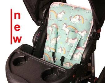 Unicorn Aqua Stroller Liner - Reversible Stroller Pad