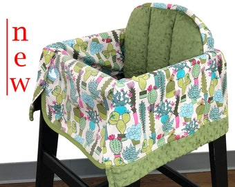 Cactus Garden High Chair Cover